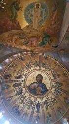 Colourful church ceiling.
