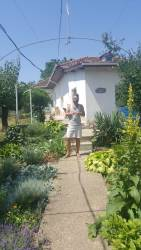 Mark admiring the garden.