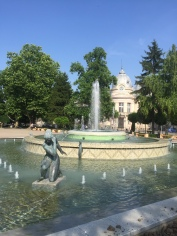 One of the fountains in Ruse.
