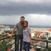 A walk up to Thessaloniki's fortress in the rainy storm clouds!